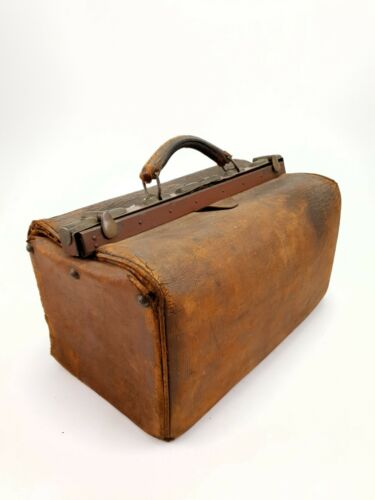 Antique Leather Doctor Medical Bag