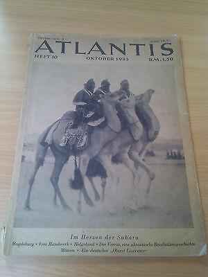 Atlantis - Ausgabe Oktober 1933  Heft 10  -  alte Zeitschrift