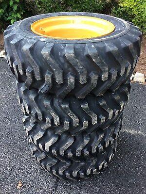 4 New Camso Sks332 10x16.5 Skid Steer Tires Rims For Case 1840 1838 - 6 Lug