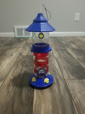 NEW Lighthouse Beach Themed Seed Bird Feeder Very Nice!!
