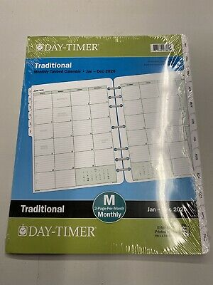 Day-timer Classic Monthly Refill Folio Size 8.5 X 11 Jan-dec 2020