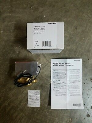 Honeywell. Pn V4043a1010u. Motorized 2 Way Zone Valve.120 Vac. 58 Id. Oem