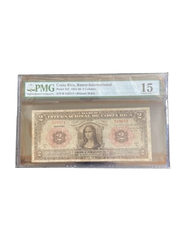 2 Colones Costa Rica Money