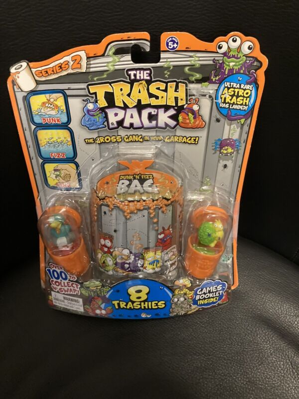 NEW RARE SERIES 2 Trash Pack Trashies Gross Gang IN YOUR GARBAGE 8 Orange Can
