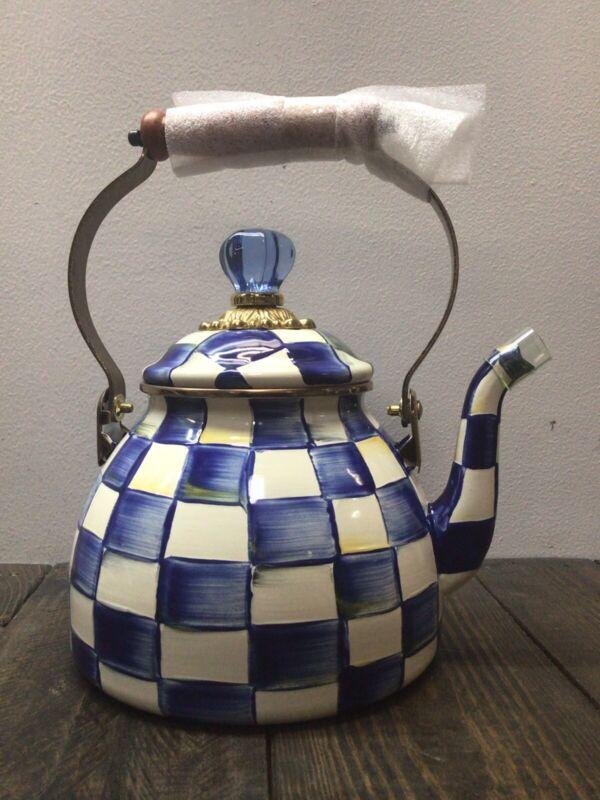 MacKenzie-Childs Royal Checkered 2 Quart Tea Kettle - SEALED
