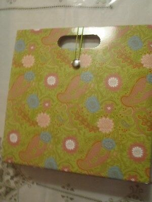 Toteable Homeofficecraft Room File Box Organizer Sage Greengoldpink Paisley