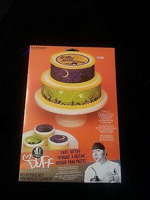 Lot of 3 Halloween Cupcake Cake Decorating Duff Discontinued Edible Tattoos NIP