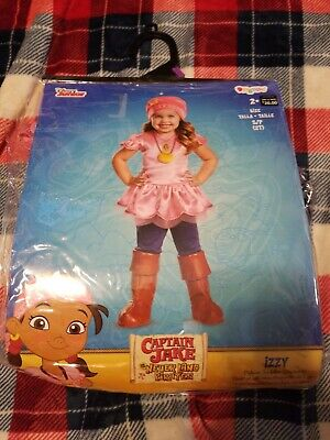 New Toddler Girl Izzy Captain Jake Never Land Pirates Size 2t Halloween costume