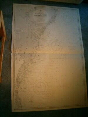 Admiralty Inlet (Vintage Admiralty Chart 266 USA - BARNEGAT INLET to ALBERMARLE SOUND 1923 edn)