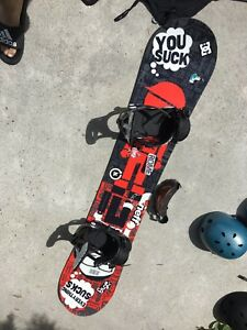Step child salary man snowboard 155cm and Rome SDS bindings