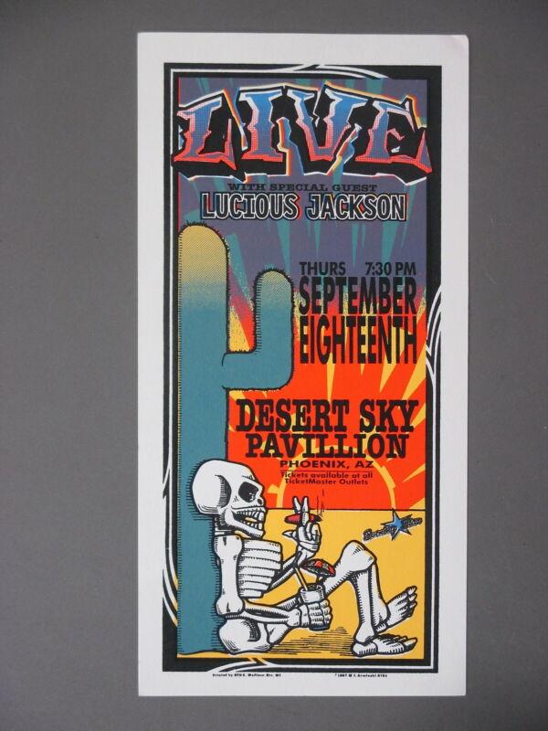 LIVE Silkscreen Concert Handbill Phoenix 9/18/97  Mark Arminski ORIGINAL