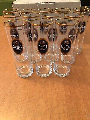 Gaffel Kolsch Beer Glasses. 0.2 liter. Box of 12. Brand New from Germany.