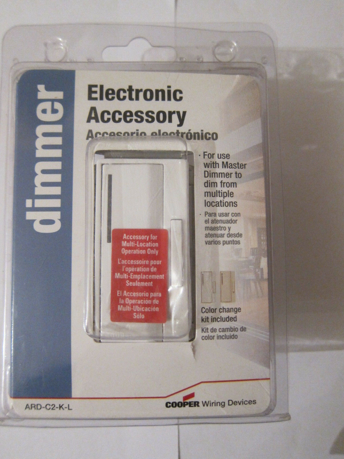 Cooper ARD-C2-K-L Electronic Accessory Must be used with Smart Master Dimmer