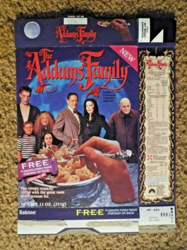 Ralston The Addams Family Cereal Box