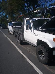 Toyota Landcruiser hj75 tray back ute , 12ht turbo diesel Highland Park Gold Coast City Preview