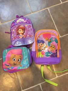 Bubble Guppies and Sophia bags