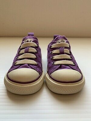 Converse All Star Infant Baby Toddler Size 4 Girls Shoes Elastic Lace Purple