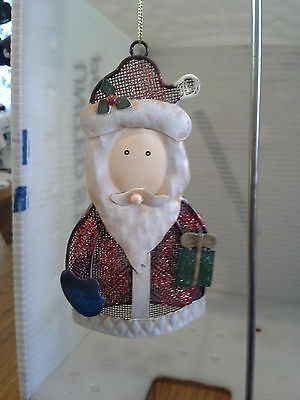 New Santa Metal Mesh Ornament  5 1/2""