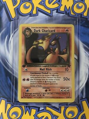 Pokemon Dark Charizard 21/82 1st Edition. **GREAT CONDITION** READY TO SHIP