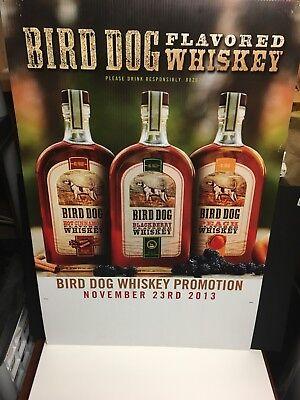 BIRD DOG Birddog KENTUCKY Burbon Flavored Whiskey Bottle Promo Signage - New