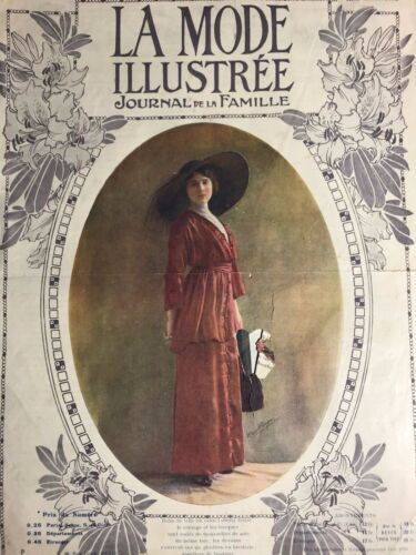 Edwardian MODE ILLUSTREE Sept 1,1912+ sewing PATTERN - Evening dresses