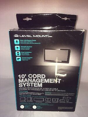 Level Mount ELEW7-07 Universal 10 Foot Wire Management Cover Kit with Corners ()