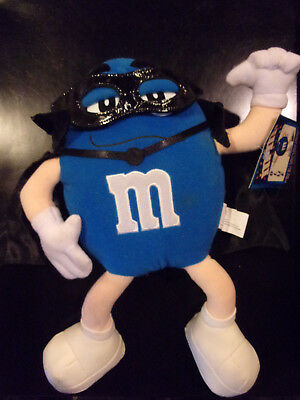 """NEW WITH TAGS BLUE M/&M PLUSH 8.5/"""" CHARACTER  MARS 2001"""
