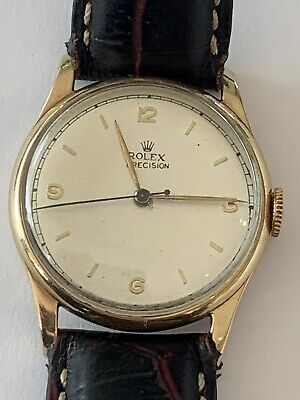 Vintage Rolex 4669 Precision 9ct Solid Gold Bombay Lugs  Sweep Second
