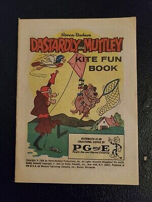 Vtg Reddy Kilowatt Hanna-Barbera Dastardly Muttley Kite Book So Cal Edison 1969