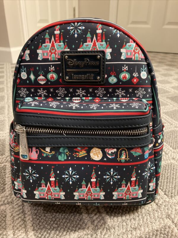 NEW Disney Parks Christmas Holiday 2020 Attractions Loungefly Mini Backpack