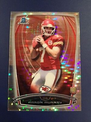 2014 Bowman Chrome #134 AARON MURRAY 097/271 Rookie SP Refractor Chiefs GEORGIA for sale  Broadview Heights