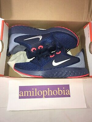 New Youth Nike Legend React (GS) Size 4Y Navy Silver Running -