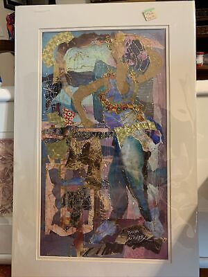 "WANDA STAHLER  ""Lola's Back"" COLLAGE -15.5"" X 24""AMERICAN Artist"