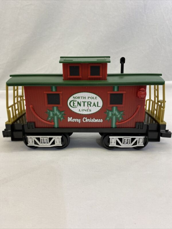 Lionel North Pole Central Lines Caboose Train Car for Ready-To-Play Set 7-11975