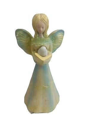 Vtg Hard Plastic Praying ANGEL Christmas Tree Topper Mid Century Hong Gold