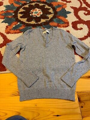 Girls Size XS 8 Abercrombie Gray Sweater Long Sleeve