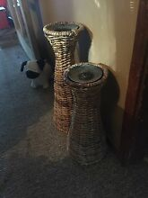 Wicker candle holders Tenambit Maitland Area Preview
