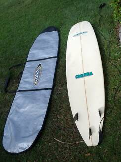"8'2"" Mini Mal Surfboard with cover Little Mountain Caloundra Area Preview"