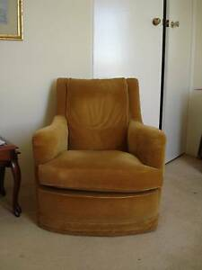 Gold Velvet Colour Armchair Chatswood Willoughby Area Preview