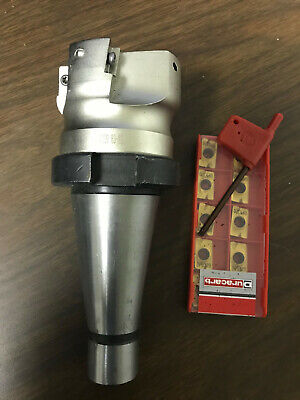 Apmt 2 Shell Mill With Nmtb40 Arbor 10 New Carbide Inserts