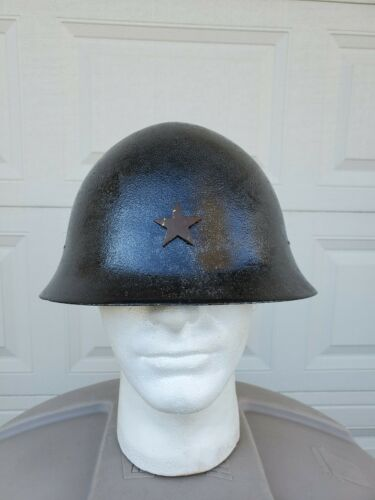 WWII JAPANESE HELMET TYPE 90 (ORIGINAL / AUTHENTIC WWII) (REPAINTED)