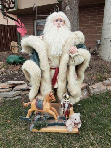 Fantastic Vintage Handmade Santa Claus Belsnickle St. Nicolas Christmas Real FUR
