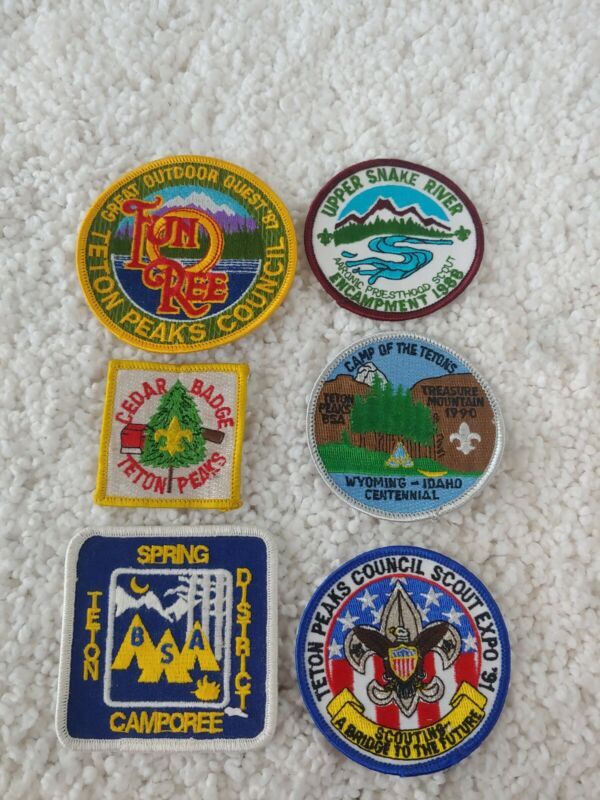Lot Of 6 Vintage BSA Patches
