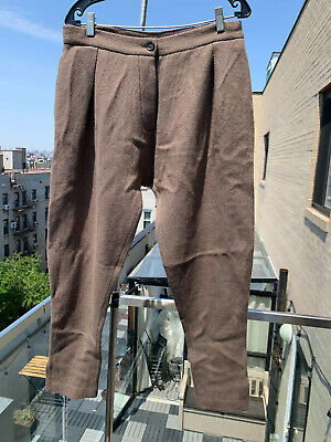 ⭐️ NEW DENIS COLOMB TAUPE CAMEL HAIR SINGLE PLEATED PANTS SMALL / 30 ⭐️