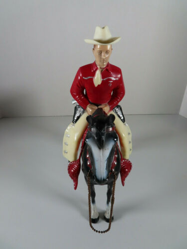1950s Red / White Western Champ Hartland Statue and Horse