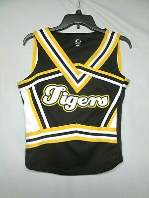 GTM Girls Tigers Cheerleader Uniform Top Outfit Costume Cosplay Size XL](Girls Cheerleading Costumes)