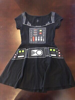 Disney Star Wars Darth Vader Dress Womens Costume Mighty Fine Used Size Small