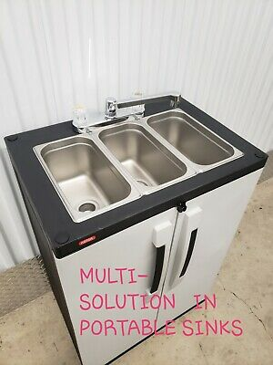 Three Portable Sink - Portable NSF sink mobile Self contained Hot Water concession three 4 COMPARTMENT