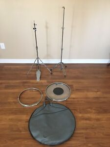 Hi-Hat Stand and Cymbal Stand and Cymbal Carrying Case