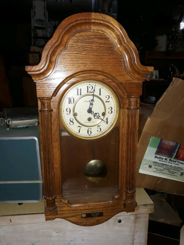 NICE GERMAN HOWARD MILLER KEY WOUND  CHIME WALL REGULATOR CLOCK  613-226